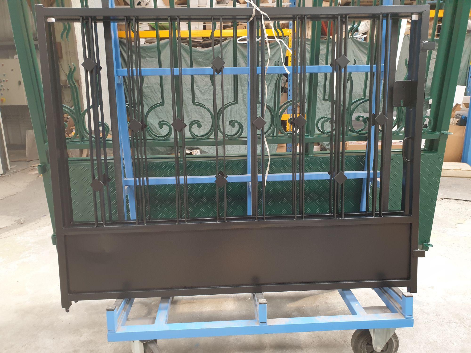 Thermolaquage portail grilles métal 79, 85, 17